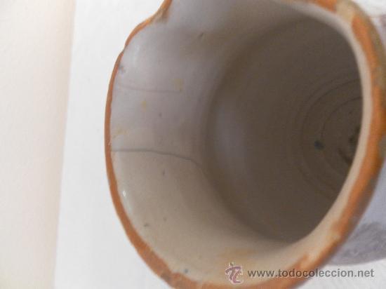 Antigüedades: Jarra. Cerámica de Ribesalbes. Serie esponja. - Foto 7 - 33781553