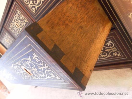 Antigüedades: Arquilla papelera. Hispano filipina. Siglo XVIII. De jacaranda o palisandro de rio, con marquetería - Foto 24 - 33780861