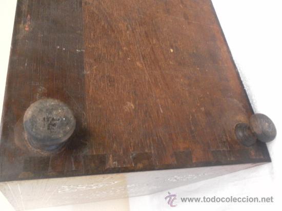 Antigüedades: Arquilla papelera. Hispano filipina. Siglo XVIII. De jacaranda o palisandro de rio, con marquetería - Foto 27 - 33780861