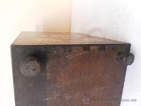Antigüedades: Arquilla papelera. Hispano filipina. Siglo XVIII. De jacaranda o palisandro de rio, con marquetería - Foto 28 - 33780861