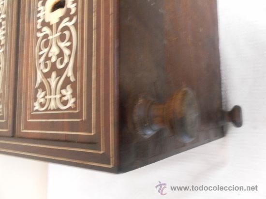 Antigüedades: Arquilla papelera. Hispano filipina. Siglo XVIII. De jacaranda o palisandro de rio, con marquetería - Foto 30 - 33780861