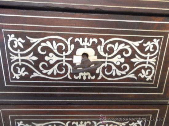 Antigüedades: Arquilla papelera. Hispano filipina. Siglo XVIII. De jacaranda o palisandro de rio, con marquetería - Foto 38 - 33780861