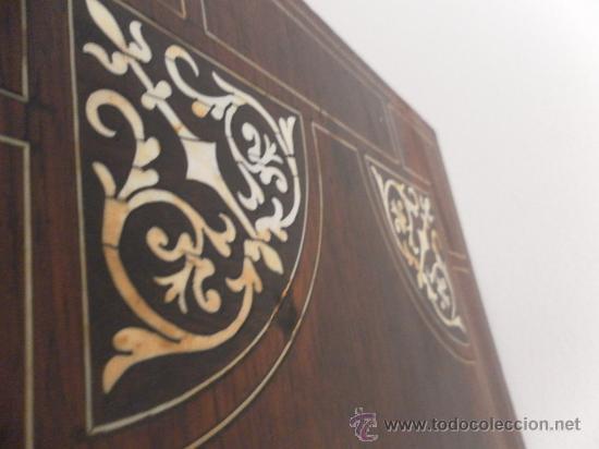 Antigüedades: Arquilla papelera. Hispano filipina. Siglo XVIII. De jacaranda o palisandro de rio, con marquetería - Foto 40 - 33780861