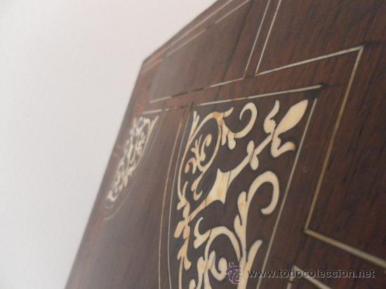 Antigüedades: Arquilla papelera. Hispano filipina. Siglo XVIII. De jacaranda o palisandro de rio, con marquetería - Foto 41 - 33780861