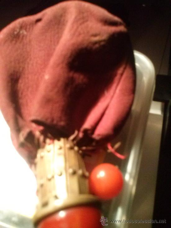 Antigüedades: Antiguo monedero tipo bolsa; terciopelo color vino; cierre tipo malla metálica extensible... - Foto 6 - 51380431