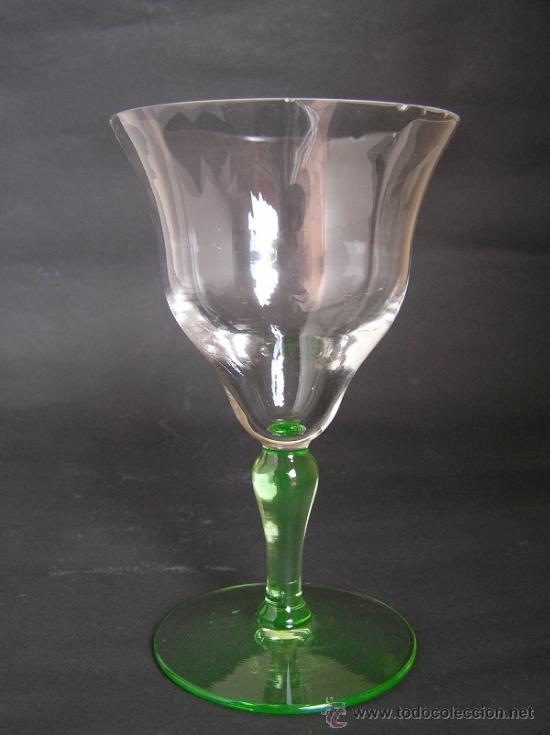 PRECIOSA COPA DE CRISTAL SOPLADO BICOLOR SIGLO XIX. QUIZÁS LA GRANJA. (Antigüedades - Cristal y Vidrio - La Granja)