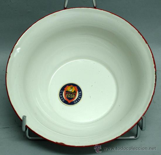 Antigüedades: Palangana esmaltada metal 20 cm diámetro marca Egsa - Foto 2 - 33805124