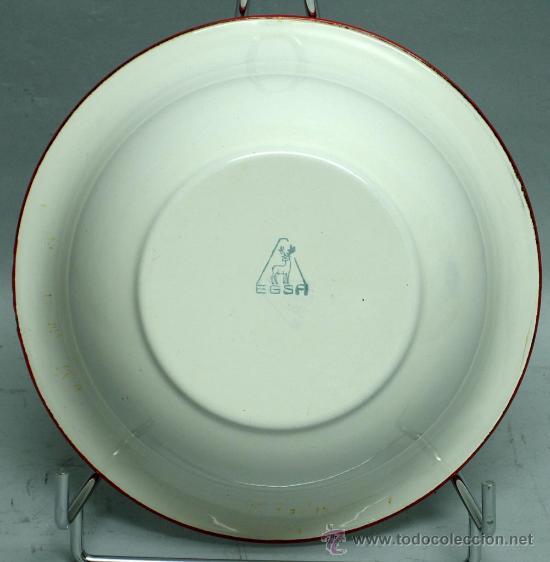 Antigüedades: Palangana esmaltada metal 20 cm diámetro marca Egsa - Foto 3 - 33805124