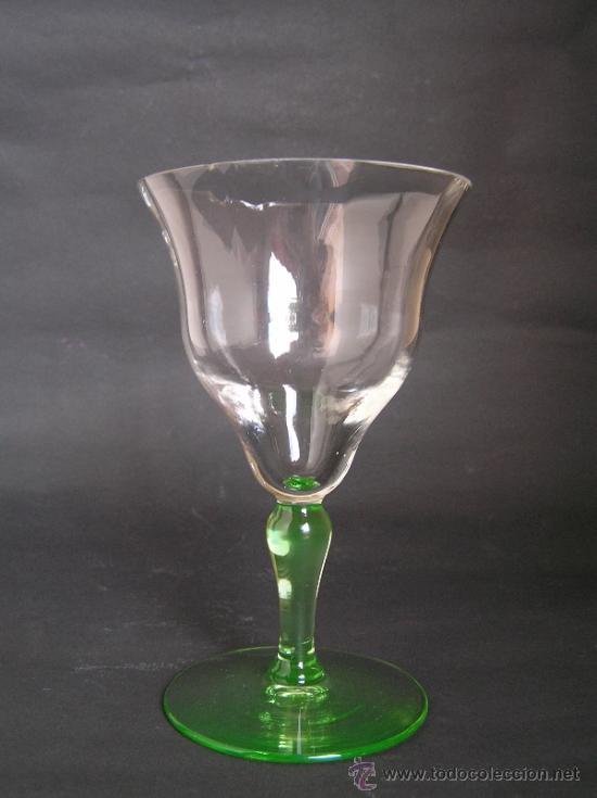 Antigüedades: Preciosa Copa de cristal soplado bicolor siglo XIX. Quizás La Granja. - Foto 10 - 33817537