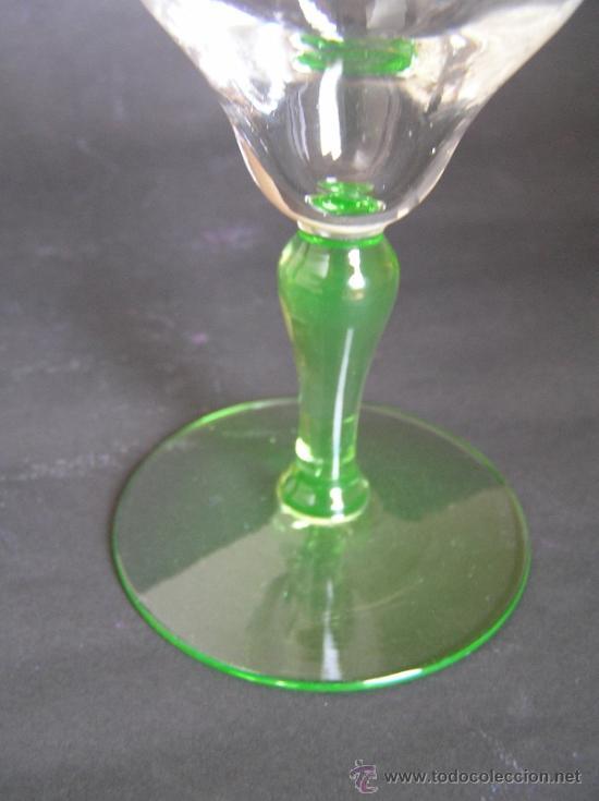 Antigüedades: Preciosa Copa de cristal soplado bicolor siglo XIX. Quizás La Granja. - Foto 2 - 33817537