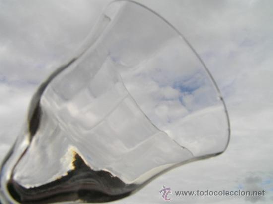 Antigüedades: Preciosa Copa de cristal soplado bicolor siglo XIX. Quizás La Granja. - Foto 6 - 33817537