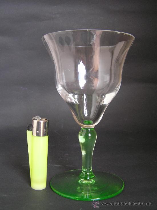 Antigüedades: Preciosa Copa de cristal soplado bicolor siglo XIX. Quizás La Granja. - Foto 11 - 33817537