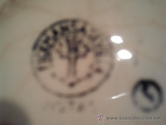 """Antigüedades: Plato """"Vistas"""". Pickman S.A Sevilla Cartuja. Sello impreso en negro al dorso. Pequeño despostillado - Foto 2 - 33813541"""