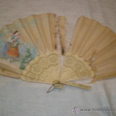 Antigüedades: ABANICO DE HUESO PARA RESTAURAR. Lote 33828761