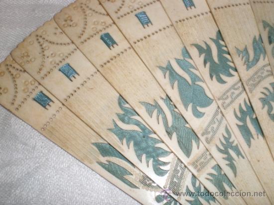 Antigüedades: abanico de hueso - Foto 2 - 33829037