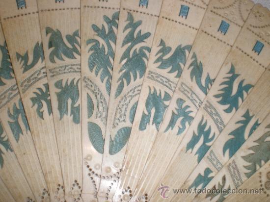 Antigüedades: abanico de hueso - Foto 3 - 33829037