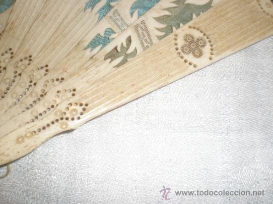 Antigüedades: abanico de hueso - Foto 4 - 33829037