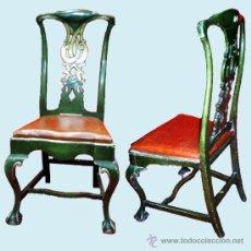 Pareja de sillas espa olas estilo chippendale comprar - Sillas chippendale ...
