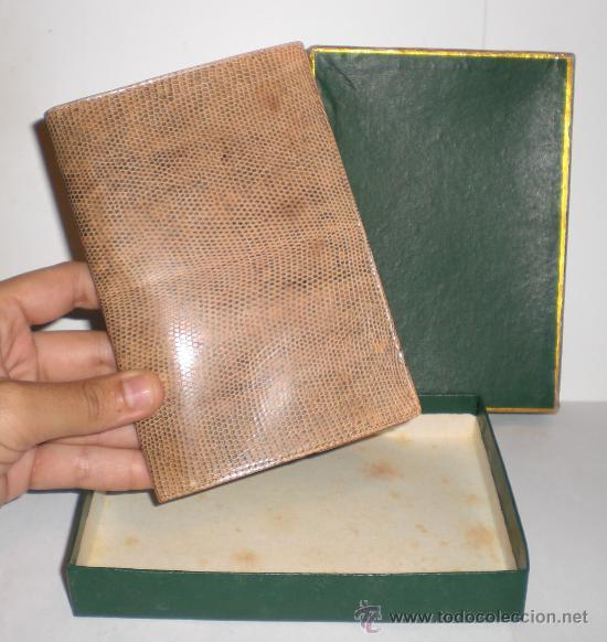 CARTERA DE PIEL DE SERPIENTE (100% AUTENTICA) - AÑOS 50 - CONSERVA LA CAJA (SIN ESTRENAR) (Antigüedades - Moda y Complementos - Hombre)