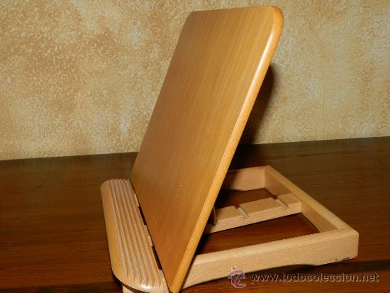 Atril de mesa madera roble regulable para libr comprar for Muebles para libros