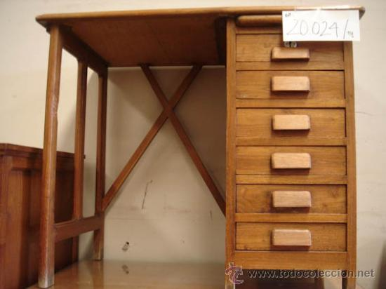 mesa pequeña de despacho de roble americano con - Comprar Mesas de ...