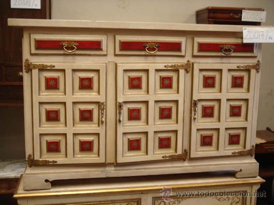 consola lacada en blanco, rojo y dorado, ideal - Comprar Consolas ...