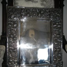 Antigüedades: BANDEJA DE PLATA REPUJADA.. Lote 33899537
