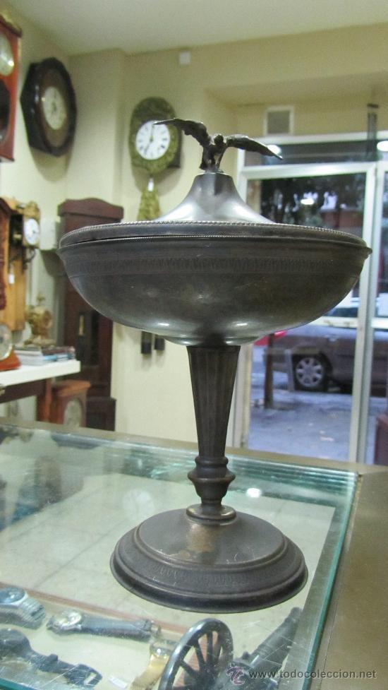 Antigüedades: Copa Imperio metal plateado. - Foto 3 - 33900437