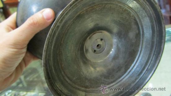Antigüedades: Copa Imperio metal plateado. - Foto 6 - 33900437