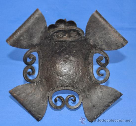 Antigüedades: Portavelas de Hierro Cincelado. - Foto 5 - 33944215
