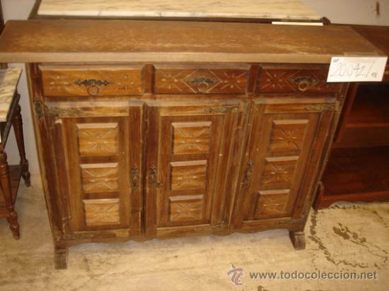 Mueble auxiliar estilo castellano de pino orego comprar - Muebles castellanos antiguos ...