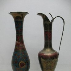 Antigüedades: VIEJO PAR DE JARRONES. Lote 33931989
