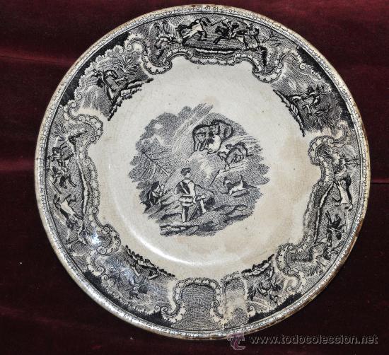 INTERESANTE PLATO EN CERÁMICA DE LA FABRICA LA AMISTAD DE CARTAGENA (Antigüedades - Porcelanas y Cerámicas - Cartagena)