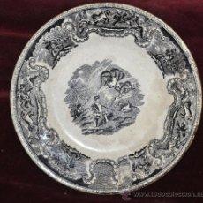 Antigüedades: INTERESANTE PLATO EN CERÁMICA DE LA FABRICA LA AMISTAD DE CARTAGENA. Lote 33939548