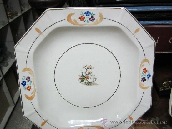 Antigüedades: pareja de platos de san claudio oviedo - Foto 2 - 33941240
