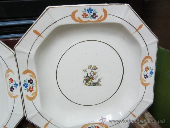 Antigüedades: pareja de platos de san claudio oviedo - Foto 3 - 33941240