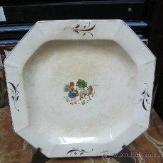 Antigüedades: PAREJA DE PLATOS DE SAN CLAUDIO OVIEDO. Lote 33941416