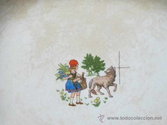 Antigüedades: pareja de platos de san claudio oviedo - Foto 2 - 33941416