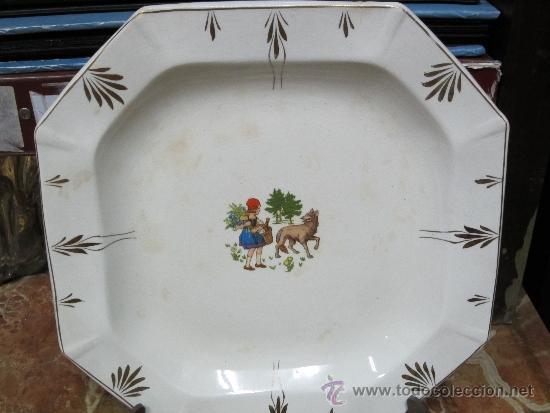 Antigüedades: pareja de platos de san claudio oviedo - Foto 4 - 33941416