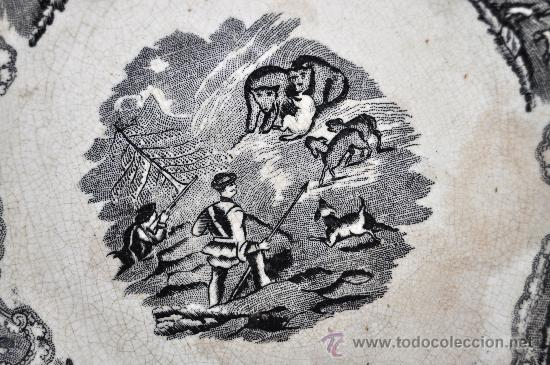 Antigüedades: INTERESANTE PLATO EN CERÁMICA DE LA FABRICA LA AMISTAD DE CARTAGENA - Foto 3 - 33939548