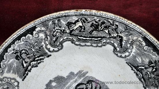 Antigüedades: INTERESANTE PLATO EN CERÁMICA DE LA FABRICA LA AMISTAD DE CARTAGENA - Foto 2 - 33939548
