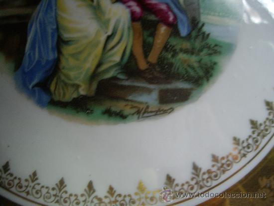 Antigüedades: JOYERO DE PORCELANA LIMOGES PINTADO A MANO Y FIRMADO 15 CTM - Foto 2 - 33947085