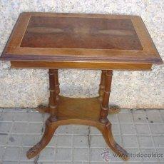 Antigüedades: MESA AUXILIAR DE CAOBA Y MOGNO. Lote 33952630