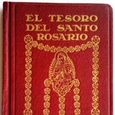 Antigüedades: MISAL DECORADO POR DIBUJOS DE UTRILLO,SITGES, MEDIADOS SIGLO XX, EL TESORO DEL SANTO ROSARIO,RARO¡¡. Lote 33957067