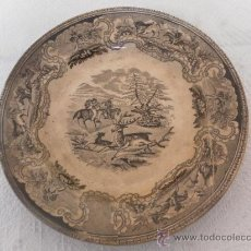 Antigüedades: PLATO DE CERÁMICA. SIGLO XIX. FÁBRICA DE CARTAGENA.. Lote 33967624