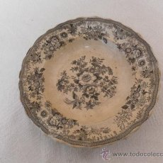 Antigüedades: PLATO DE CERÁMICA. SIGLO XIX. TIPO SARGADELOS. . Lote 33967717