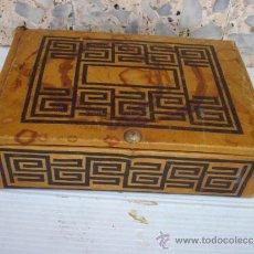 Antigüedades: CAJA DE PIEL. Lote 33968100