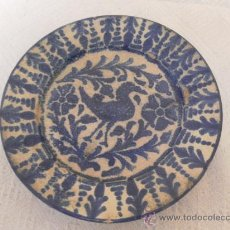 Antigüedades: PLATO DE CERÁMICA. SIGLO XIX. FAJALAUZA. . Lote 33968184