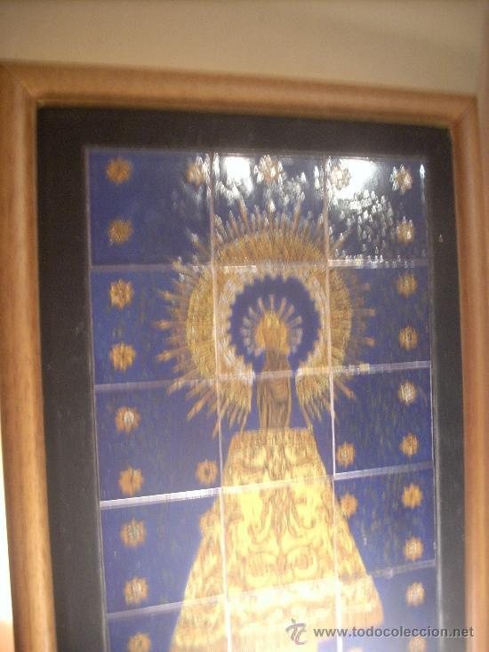 Antiguo cuadro de la virgen del pilar en azulej comprar - Azulejos el pilar ...