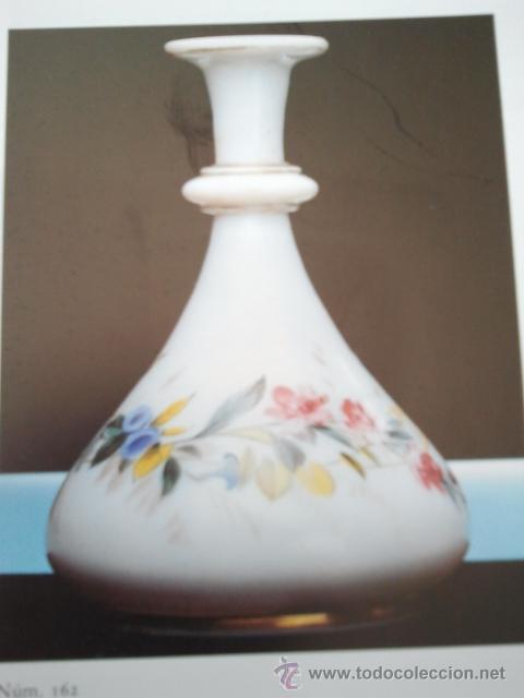 Antigüedades: Florero de opalina. Escena músical estampada, guirnalda de flores y filete dorado. Pola y Cia Gijón. - Foto 4 - 33638437